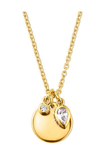 Tchibo Zirkon Taşlı Gümüş Zincir Sarı Altın 95850