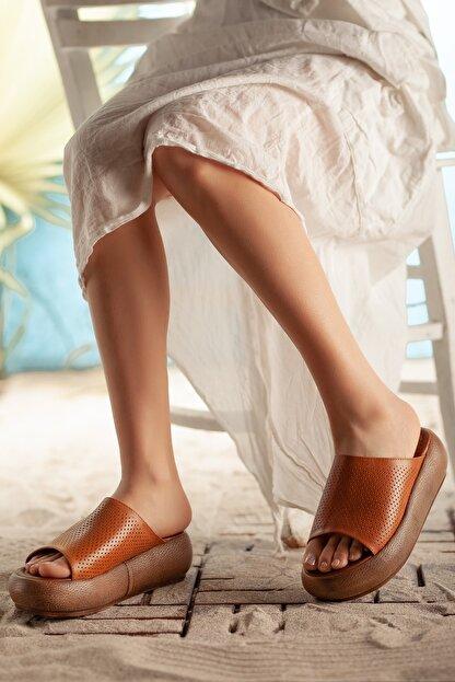 Rome Slippers Hakiki Deri   Kadın Terlik