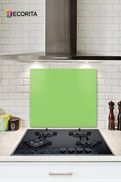 Decorita Düz Renk - Neon Yeşil   Cam Ocak Arkası Koruyucu      52cm x 60cm