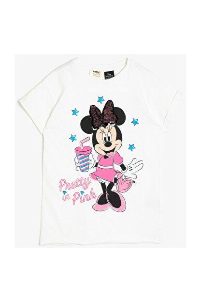 Koton Ekru Kız Çocuk T-Shirt 0YKG17153OK