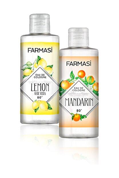 Farmasi Aloe Veralı Limon Kolonyası-225ml Ve Bodrum Mandalinası Kolonyası-225ml 2'li Set