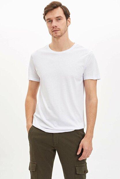 Defacto Bisiklet Yaka Slim Fit Premium Kalite Basic Tişört