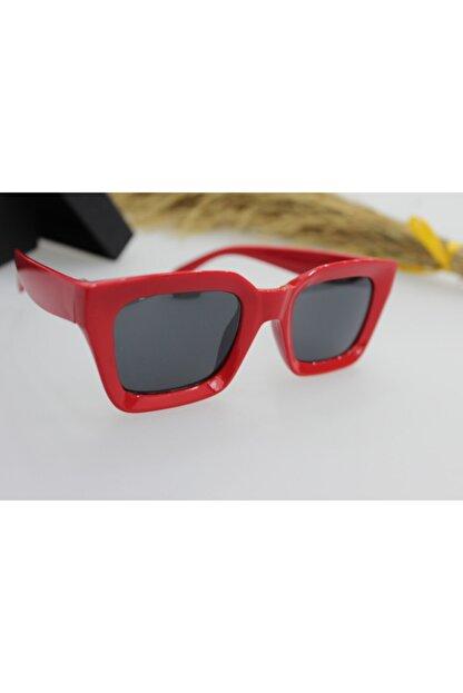 ModaLand New Mia Kare Kadın Kırmızı Güneş Gözlüğü