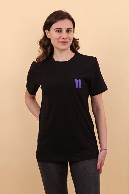 Lena Butik Bts Ön Arka Baskılı T-shirt