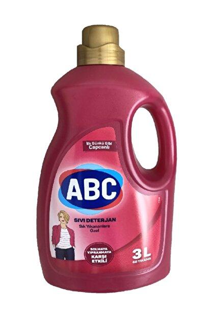 ABC Sık Yıkanan Çamaşırlara Özel Solmaya Yıpranmaya Karşı Sıvı Deterjan 3000 ml