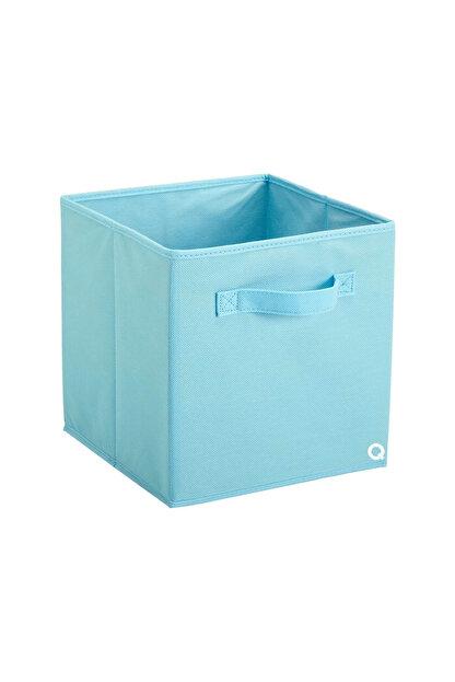 Rani Mobilya Q1 Medium Çok Amaçlı Dolap İçi Düzenleyici Kutu Dekoratif Saklama Kutusu Organizer Açık Mavi