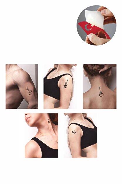 one spray tattoo muzik ve nota dovmesi dovme sablonu ve kina desenleri 5 adet fiyati yorumlari trendyol