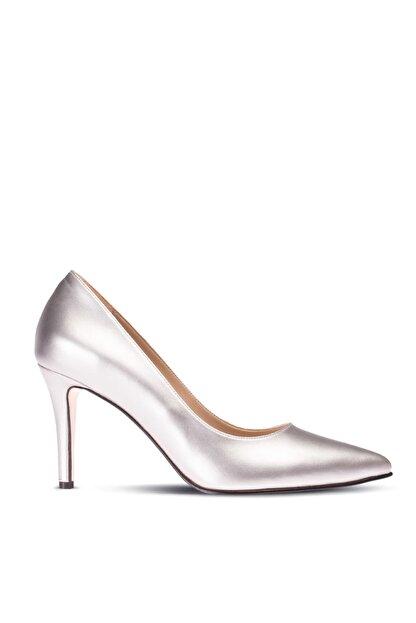 Deery Gümüş Kadın  Klasik Topuklu Ayakkabı 02029ZGMSM01