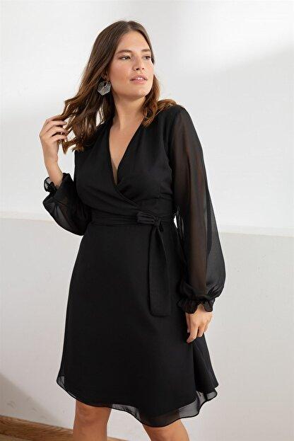 Melisita Kadın Siyah Misty Anvelop Elbise fw01965eb