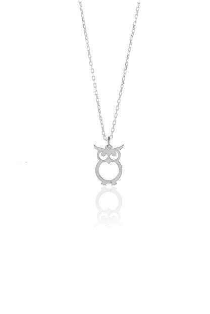 Söğütlü Silver Gümüş Rodyumlu Baykuş Modeli Kolye SGTL9864RODAJ