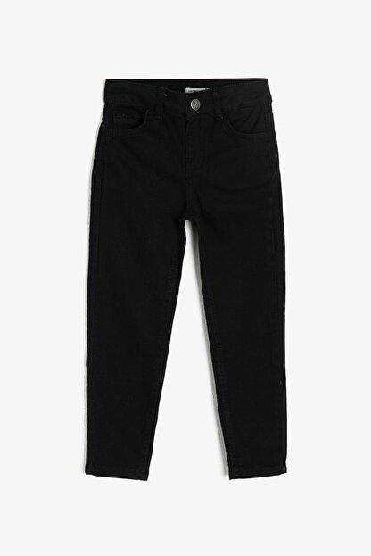 Koton Siyah Cep Detaylı Erkek  Çocuk Jean Pantolon 0YKB46277DD