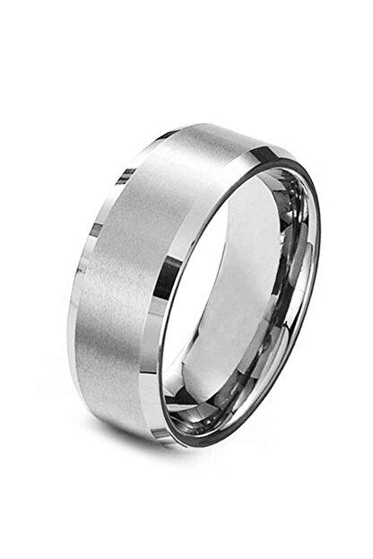 Chavin Orta Kısmı Mat Çelik Unisex Gri  Yüzük cd76
