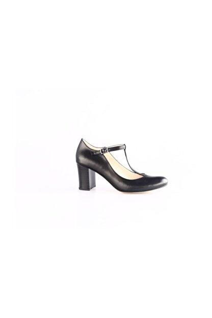 Dgn Siyah Kadın Klasik Topuklu Ayakkabı 384-127