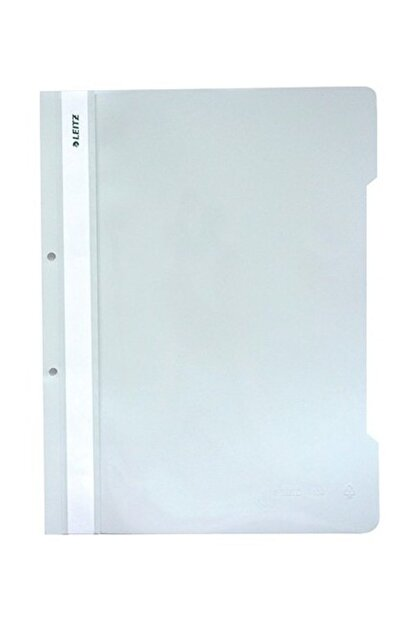 Leitz 4189 Plastik Telli Dosya 50'li Renk - Beyaz