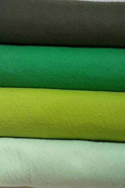 ByOzras Yeşilli Tonlar İnce Keçe - 4 Renk - 50x50 cm - Hobi Malzemesi