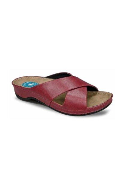 Ceyo Kadın Kırmızı Topuk Dikeni Terliği