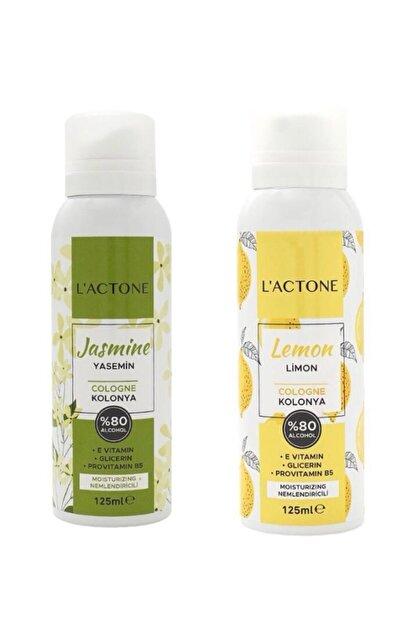 L'ACTONE Kolonya Yasemin Çiçeği 125 Ml+limon 125 Ml (2 Li Kampanyali Set)