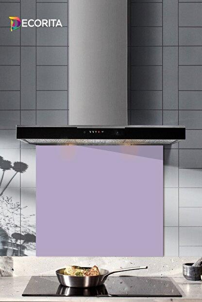Decorita Düz Renk - Lila | Cam Ocak Arkası Koruyucu   | 52cm x 60cm