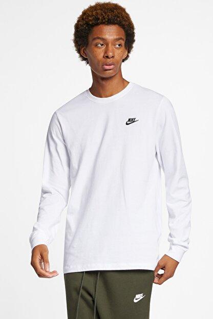 Nike Club Erkek Beyaz Sweatshirt (AR5193-100)