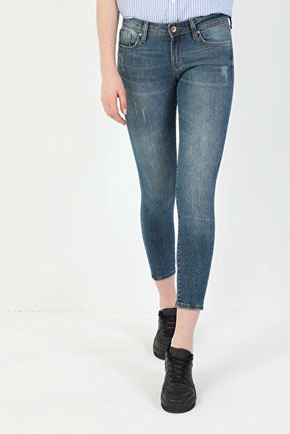 Colin's 757 Sally Süper Dar Kesim Süper Düşük Bel Süper Dar Paça Kadın Mavi Jean Pantolon CL1048686