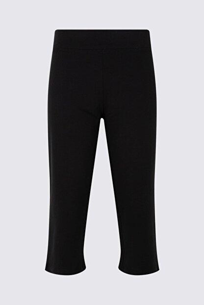 Marks & Spencer Kadın Siyah Pamuklu Cropped Jogger T57006662H