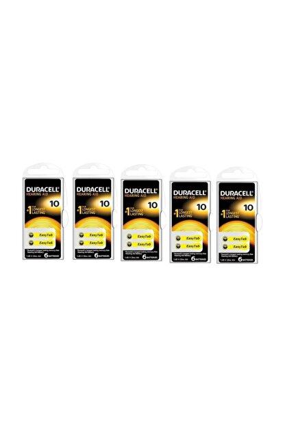 Duracell 10, PR70 Kulaklık İşitme Cihazı Pili 6'lı Paket (5 Paket)