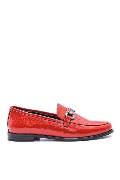 Derimod Hakiki Deri Kırmızı Kadın Ayakkabı