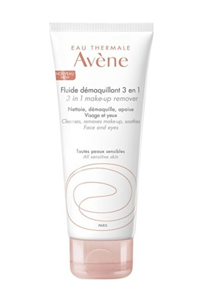Avene Fluide Demaquillant 3 In 1 100 ml Hassas Ve Karma Ciltler İçin 3'ü 1 Arada Temizleme Losyonu
