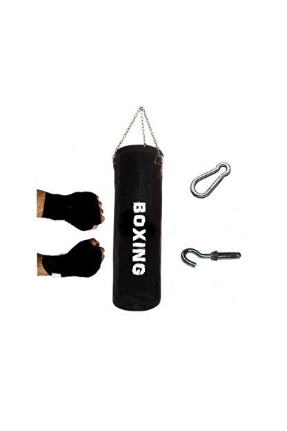 BOXİNG 120x35 Cm Geniş Kum Torbası+boks Bandajı+ Kargo Bedava Dolu Tavan Apartı Hediyeli Üründür