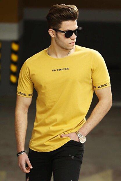 Madmext Sarı Erkek Tişört 4461