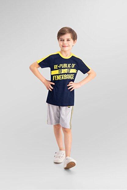 Fenerbahçe Lisanslı Lacivert Erkek Çocuk Bermuda Takım