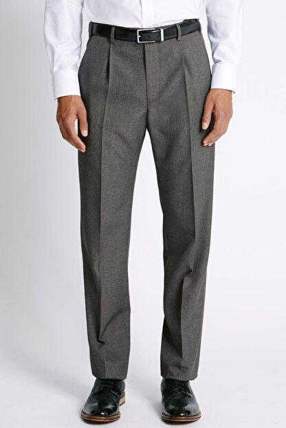 Marks & Spencer Erkek Gri Regular Fit Pantolon T17003214M
