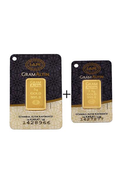 Tuğrul Kuyumculuk 7,5 Gram (5+2,5) Külçe Gram Altın IAR 24 Ayar K00075