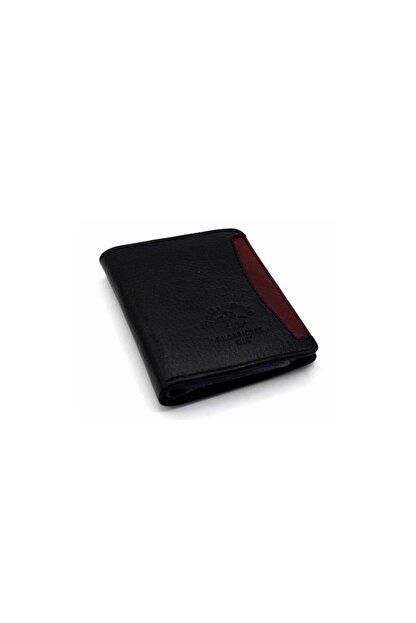 WEST POLO CÜZDAN Siyah Erkek Kağıt Para Bölmeli Şeffaf Kartlık Kartlık WP3002