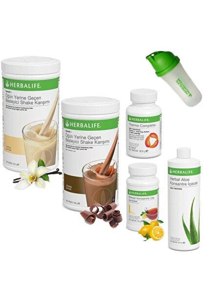 Herbalife Full Set 2 Shake + Çay 50 gr + Aloe + Thermo + Shaker