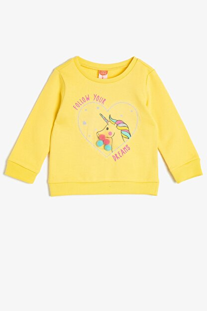 Koton Sarı Kız Bebek Sweatshirt