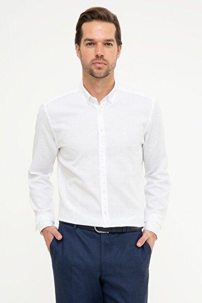 Pierre Cardin Erkek Mavi Slim Fit Gömlek G021GL004.000.989133