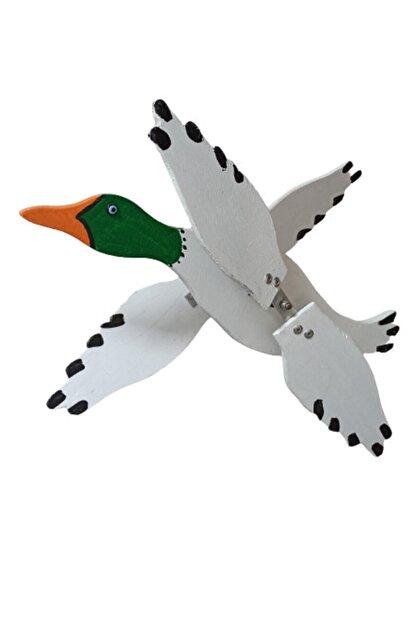 Rüzgaristan Ahşap Rüzgar Gülü Yeşil Başlı Ördek