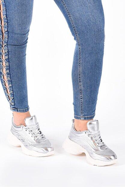 Hammer Jack Kadın Gümüş Sneaker 490