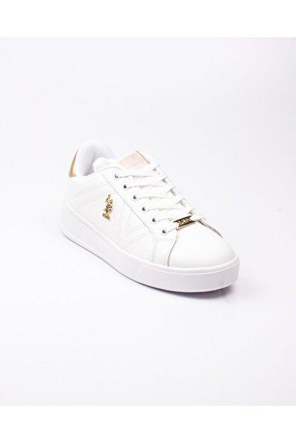 US Polo Assn U. S. Polo Exxy Beyaz Kadın Sneaker Beyaz-38