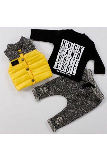 Hippıl Baby Bebek Siyah Rock Roll Lüx 3'lü Takım 60117