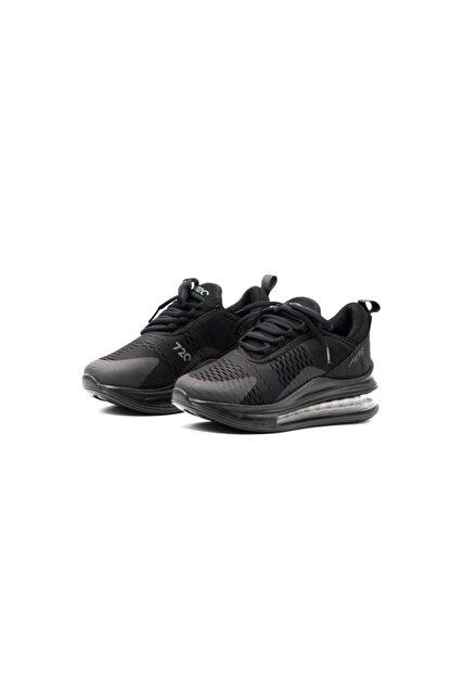 poulaine Siyah Rahat Air Taban Unisex Mevsimlik Spor Sneakers
