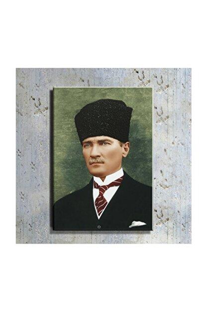 mağazacım Atatürk Kalpaklı Takım Elbiseli Portre 50 Cm X 70 Cm Kanvas Tablo Tbl1198