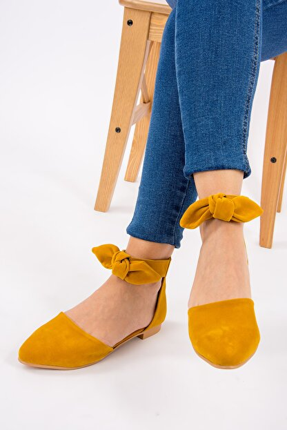Fox Shoes Hardal Kadın Babet H726761502