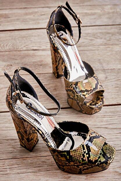Bambi Altın Kadın Abiye Ayakkabı L0501816107
