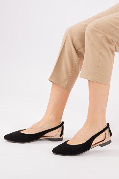 Fox Shoes Siyah/Ten Kadın Babet H726324002