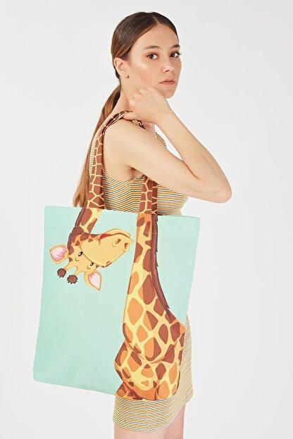 Addax Kadın Zürafa Desenli Çanta Ç08 ADX-0000019106