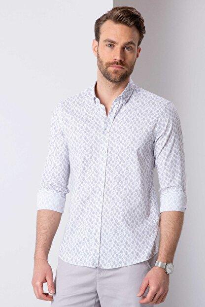 Pierre Cardin Açık Gri Slim Fit Gömlek