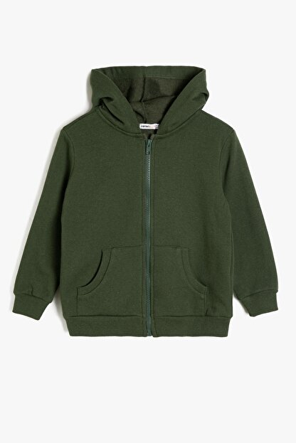 Koton Yeşil Erkek Çocuk Kapüsonlu Sweatshirt