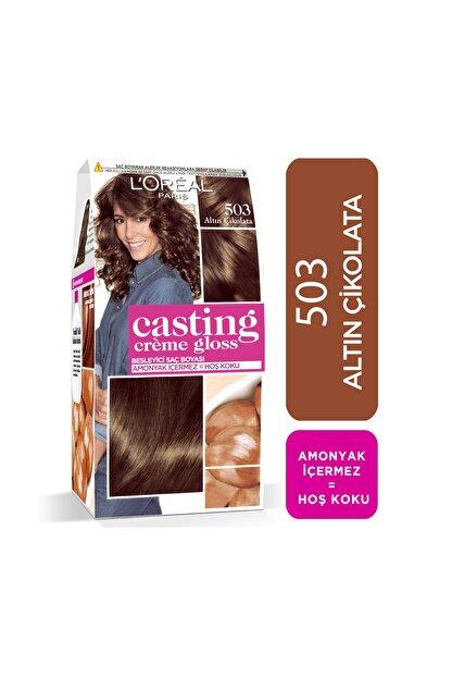 L'Oreal Paris Saç Boyası - Casting Creme Gloss 503 Altın Çikolata 3600523302857